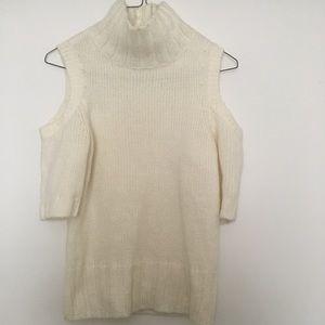 White short sleeve knit jumper
